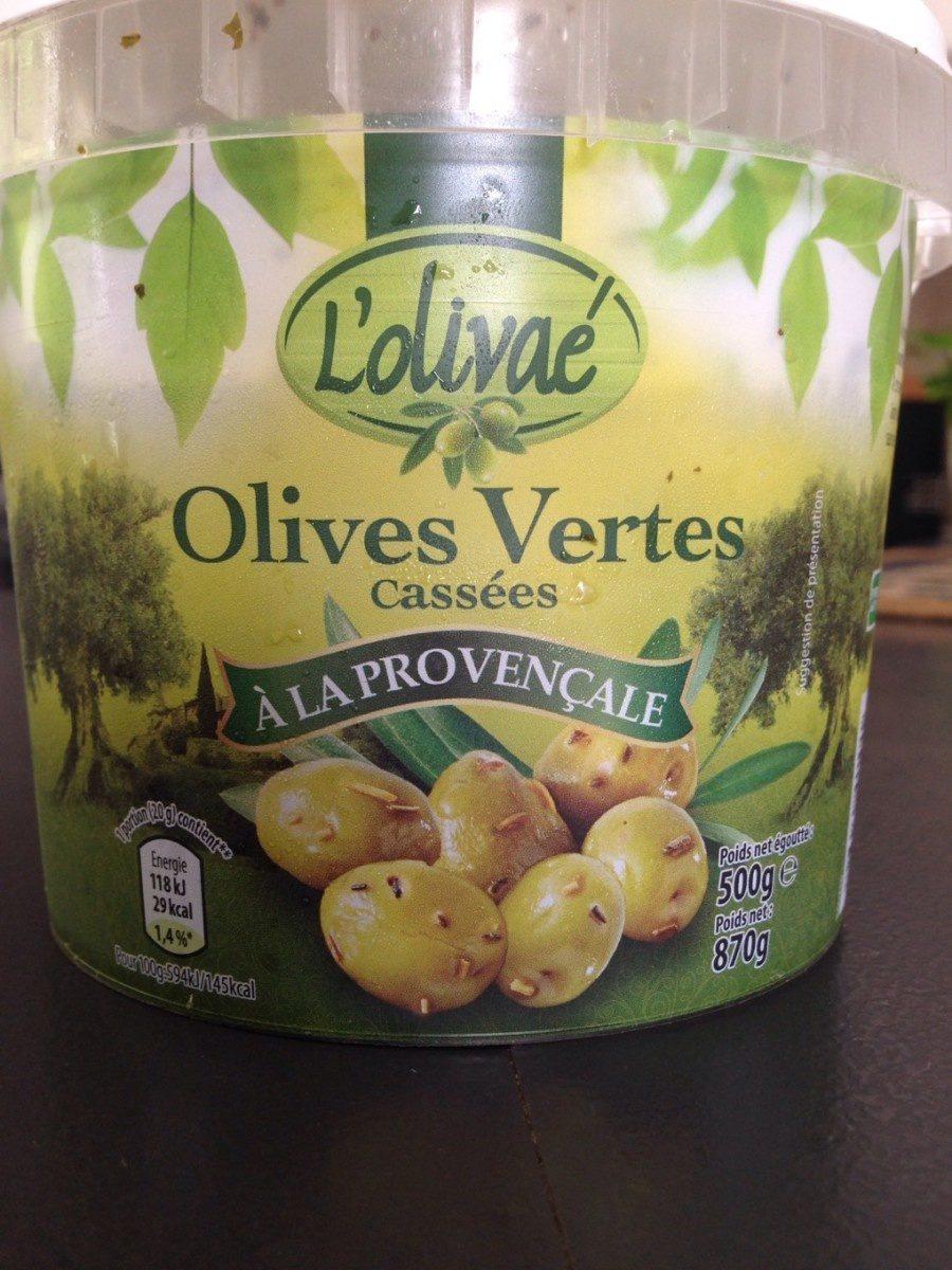 Olives vertes casses a la provençale - Produit