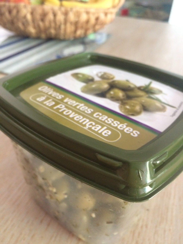 Olives vertes casses a la provençale - Informations nutritionnelles