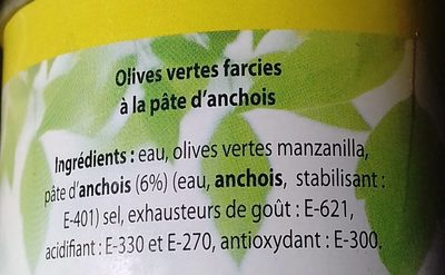 Olives farcies a la pâte d'anchois - Ingredients - fr