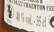 Cognac - Informations nutritionnelles