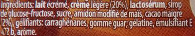 Duo Gourmand au gout cacao Ursi - Ingrédients - fr