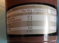 Duo Gourmand au gout cacao Ursi - Informations nutritionnelles - fr