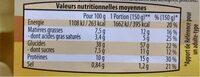Raviolis au bœuf - Informations nutritionnelles - fr