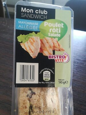 Sandwich poulet roti salade - Product