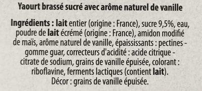 Yaourt Brassé - Ingrédients - fr