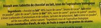 Biscuit Tablette chocolat au lait - Ingrédients - fr