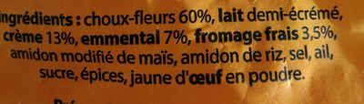 Gratin de brocolis - Inhaltsstoffe - fr