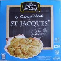 6 Coquilles St-Jacques* à la Bretonne, Surgelées - Produit - fr