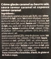 Glace vanille sauce caramel - Ingrediënten