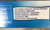 Filet de saumon - Ingrédients - fr