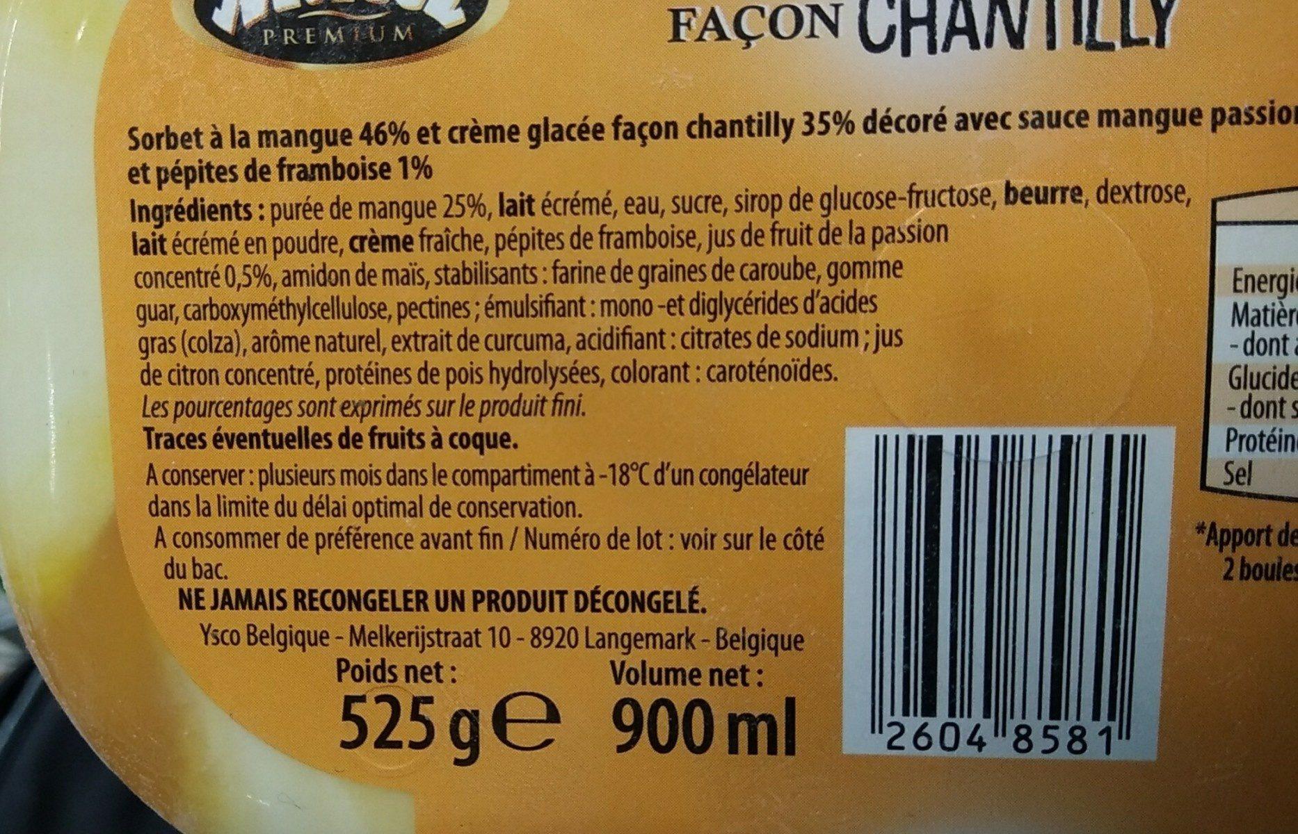 Glace yaourt fruits des bois - Ingredients