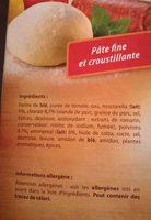 Pizza cuite sur pierre - Ingredients - fr