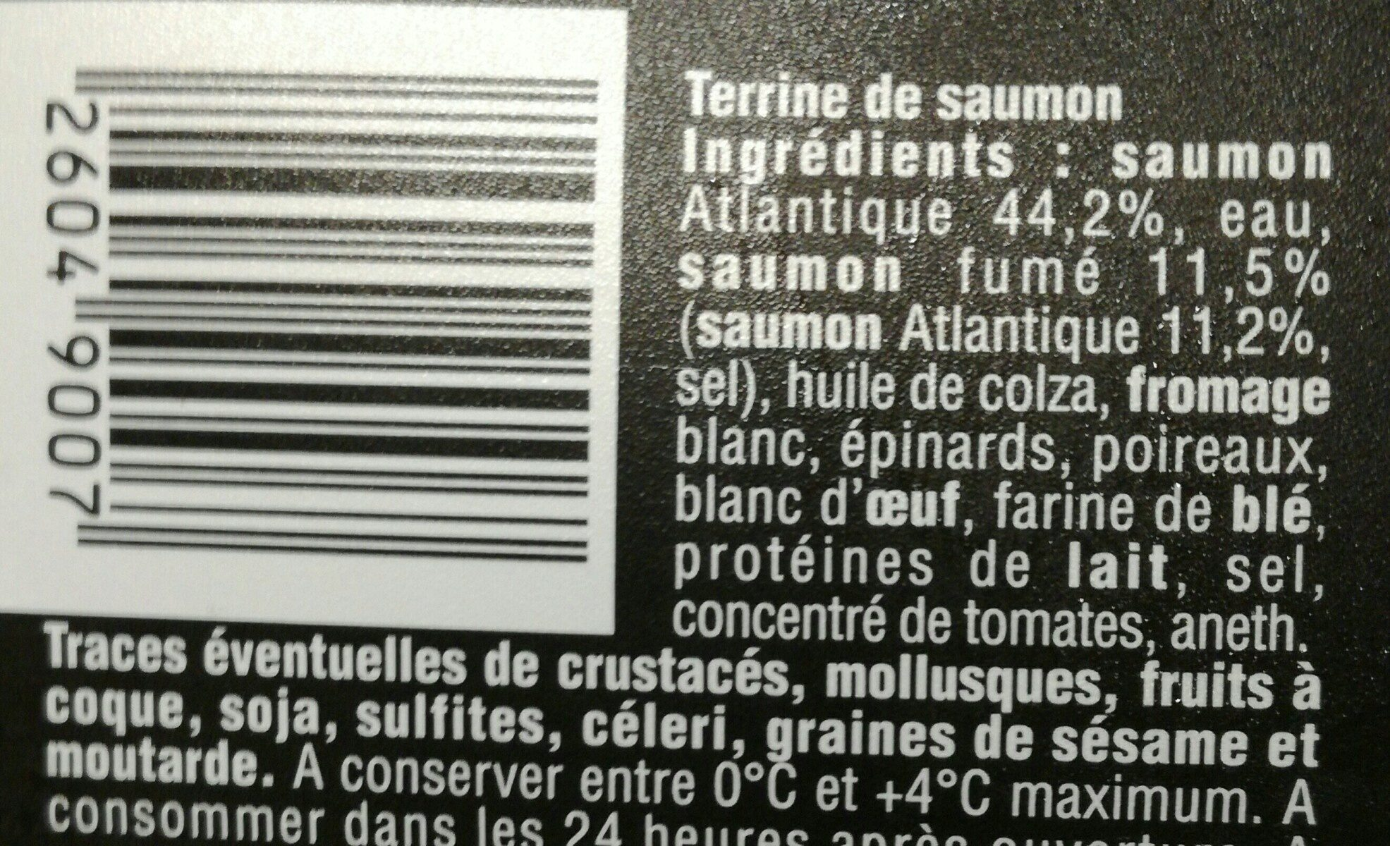 Terrine de la Mer - Saumon - Ingredients