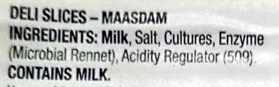 Deli Slices Maasam - Ingredients