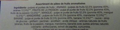 Assortiment pâtes de fruits - Ingrediënten