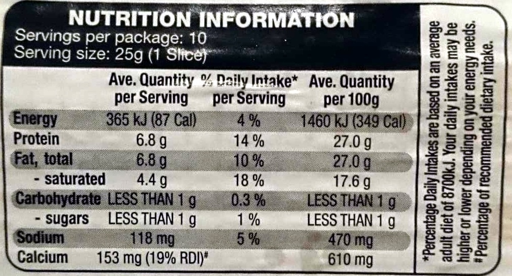 Deli Slices Maasam - Nutrition facts