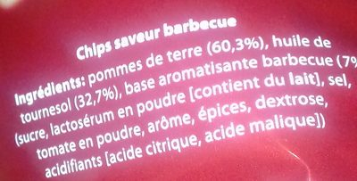 Chips Saveur Barbecue - Ingredients