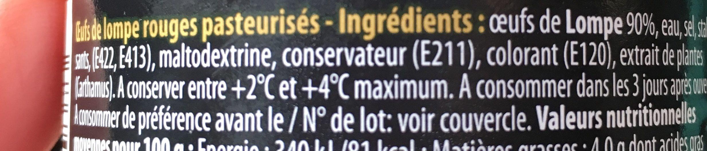 Œufs de Lompe aldi - Ingrédients - fr