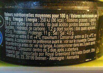 Œufs de Lompe aldi - Informations nutritionnelles - fr