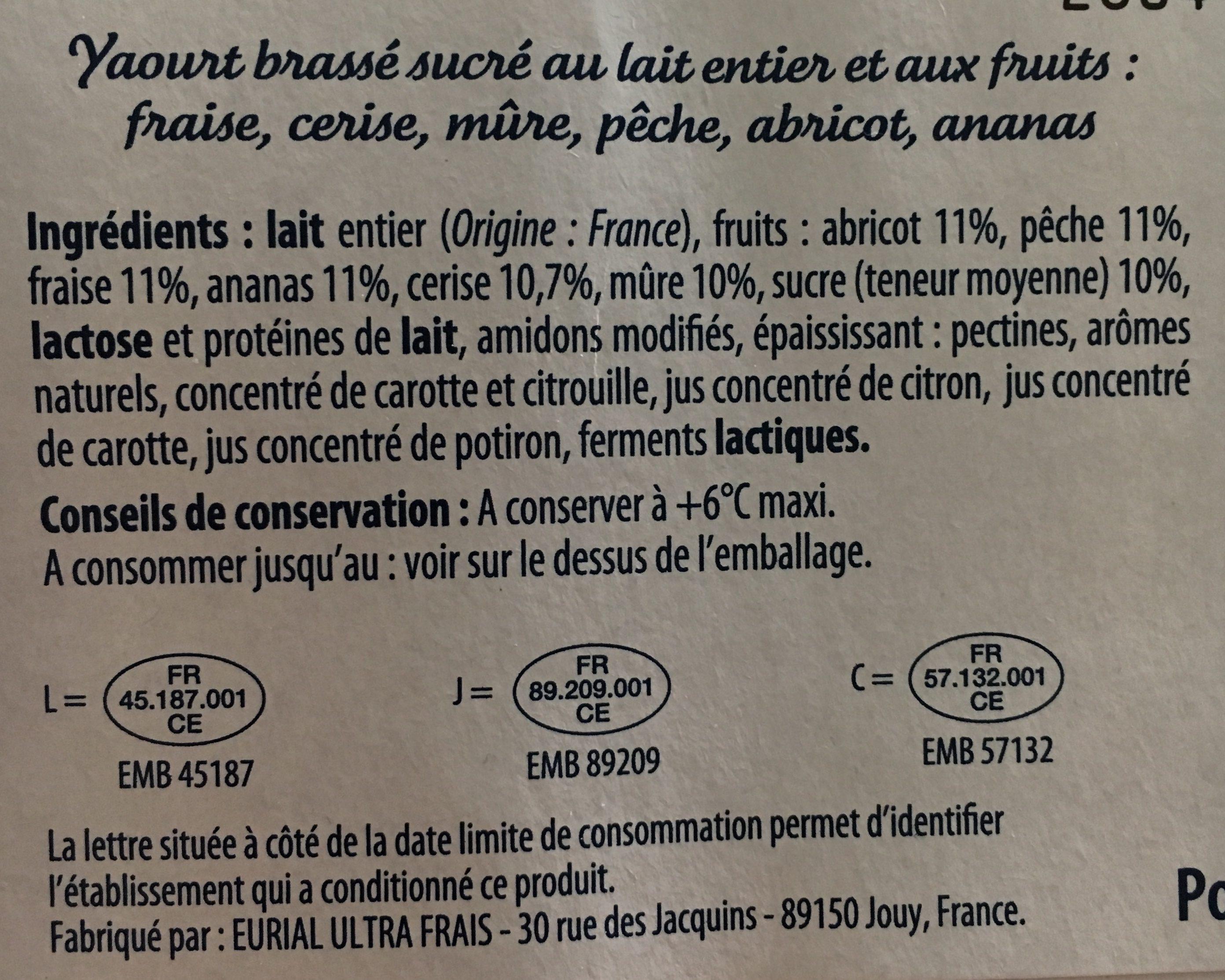 Yaourt aux fruits - Ingrédients - fr