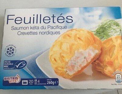 Feuilletés saumon crevette - Produit - fr