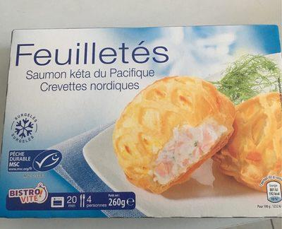 Feuilletés Saumon Kéta du Pacifique, Crevettes Nordiques - Produit - fr