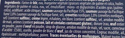 Feuilletés saumon crevette - Ingrédients - fr