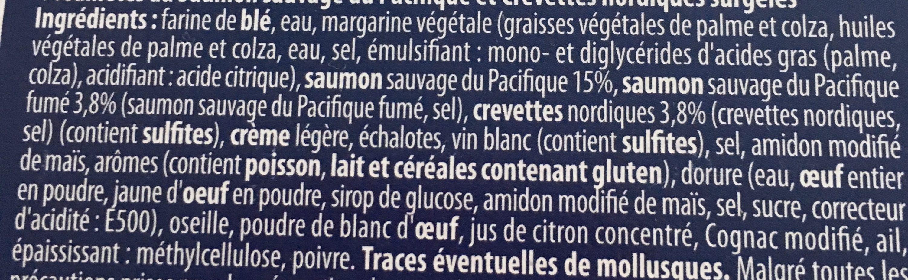 Feuilletés Saumon Kéta du Pacifique, Crevettes Nordiques - Ingrédients - fr