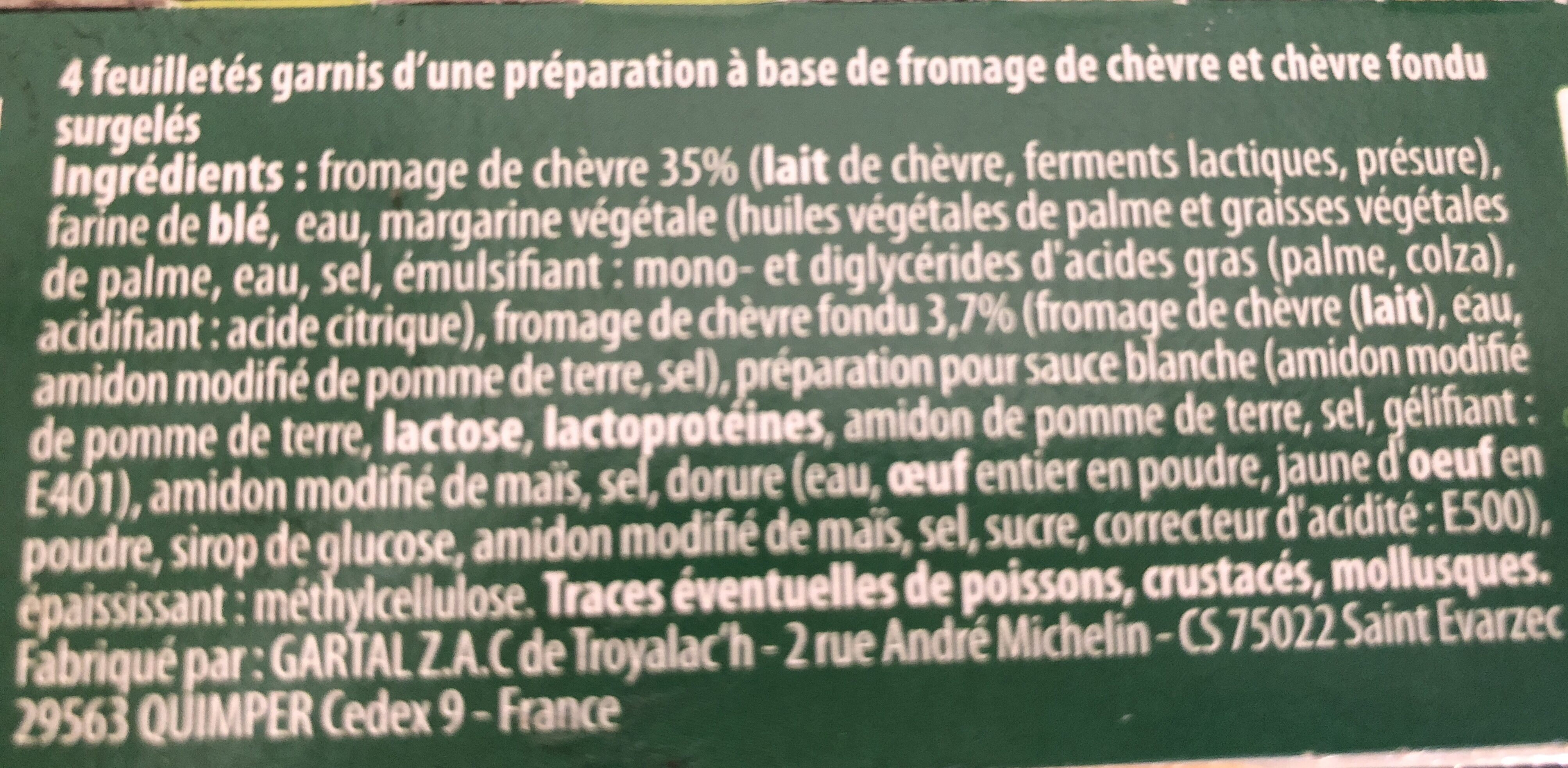 Feuilletés au Chèvre - Ingredienti - fr