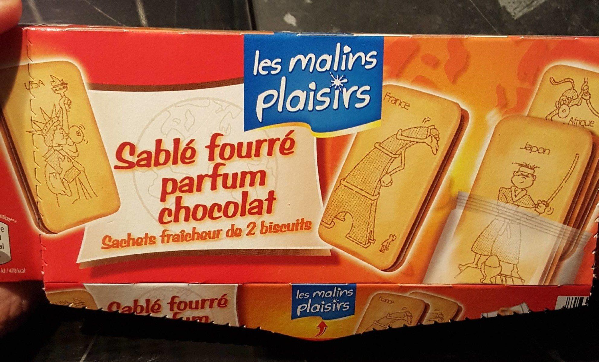 Sablé fourré chocolat - Produit - fr