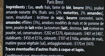 Paris Brest - Ingredients