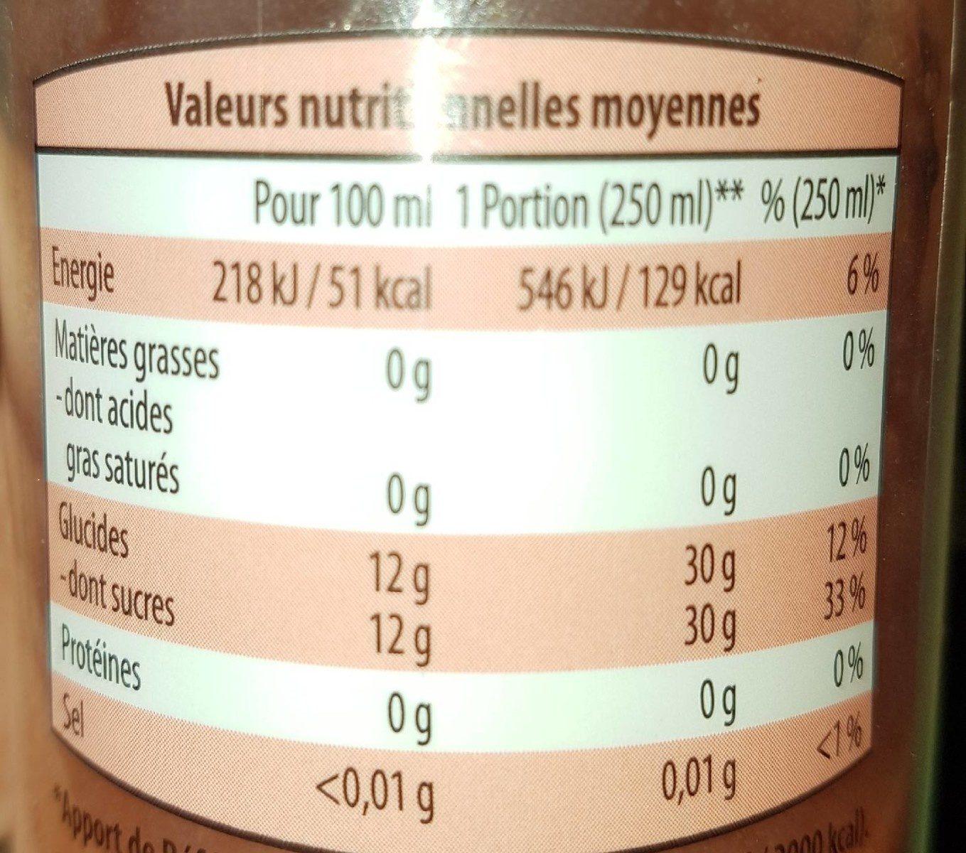 Smoothie Fruima banane fraise - Informations nutritionnelles - fr