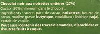 Chocolat noir et noisettes - Ingrédients - fr
