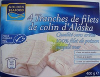 4 Tranches de filets de colin d'Alaska, Surgelé - Produit - fr