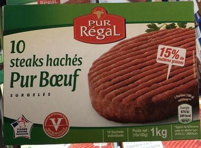 10 steaks hachés Pur Bœuf surgelés aldi - Produit