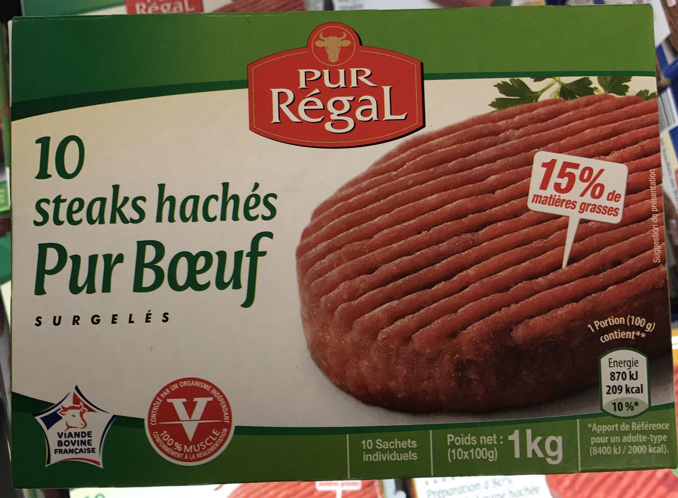 10 steaks hachés pur boeuf - Produit - fr