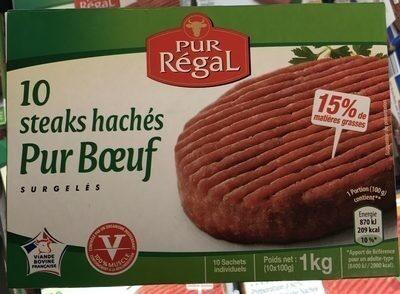 10 steaks hachés pur boeuf - Prodotto - fr