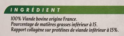 10 steaks hachés pur boeuf - Ingrédients - fr