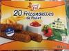 20 fricandelles de poulet surgelé - Product