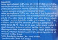 6 Cônes Chocolat Pistache - Ingrédients - fr