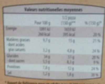 3 Pizzas Margherita - Nutrition facts - fr