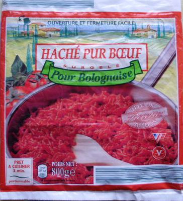 Haché Pur Bœuf Pour Bolognaise, Surgelé - Product - fr