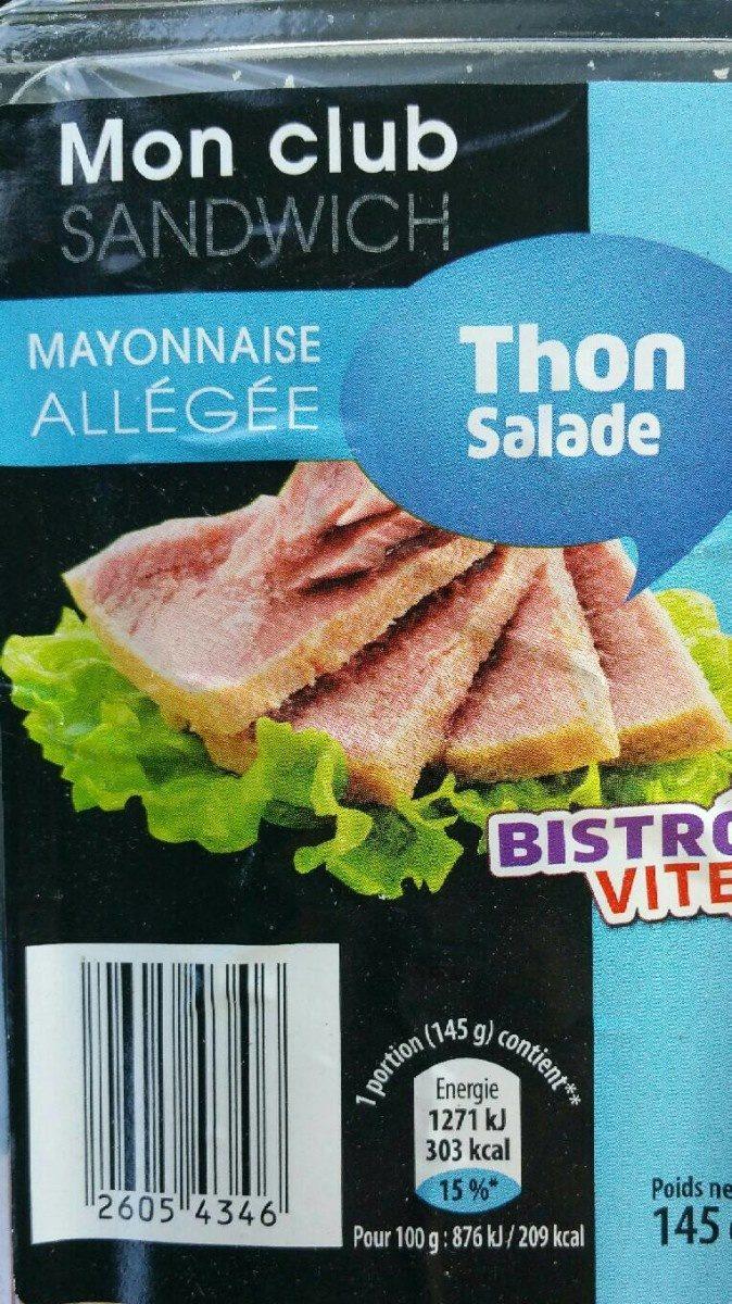 Mon club sandwich thon salade - Produit - fr