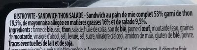 Mon club sandwich thon salade - Ingrédients - fr
