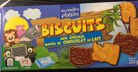 Biscuit aux céréales nappés de chocolat au lait - Product