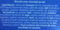Biscuit aux céréales nappés de chocolat au lait - Ingrediënten