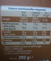 Expresso double enrobage café & chocolat au lait - Voedingswaarden - en