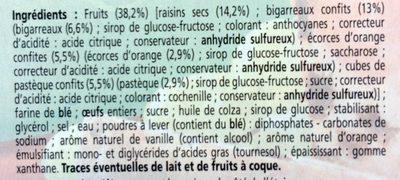 Cake aux fruits tranché - Ingredients
