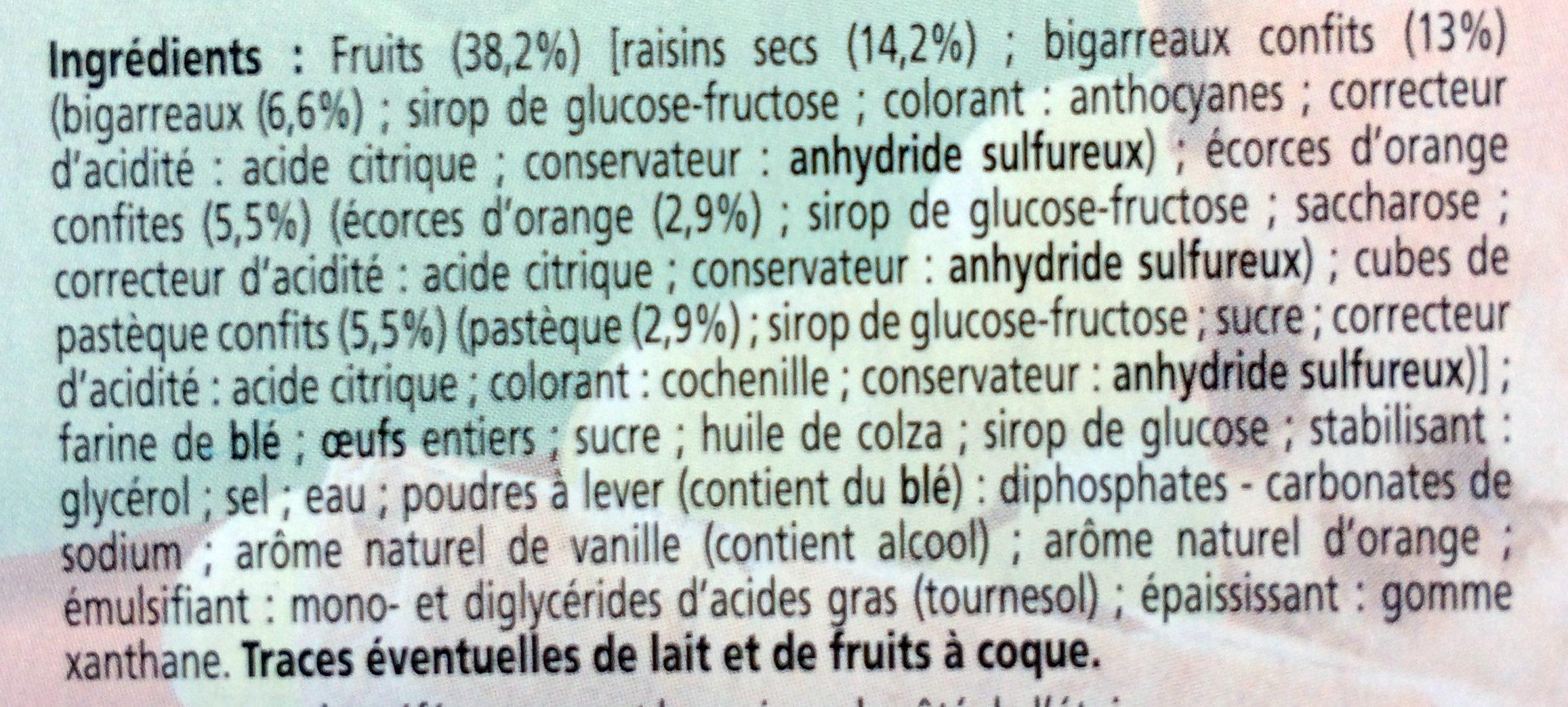 Cake aux fruits tranché - Ingrédients - fr