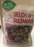 Seeds and sultanans - Product